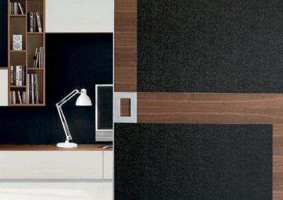 BLR Interiorismo Madrid (A03-Puerta Mitika Omega acabado fiorato tessuto marrone)