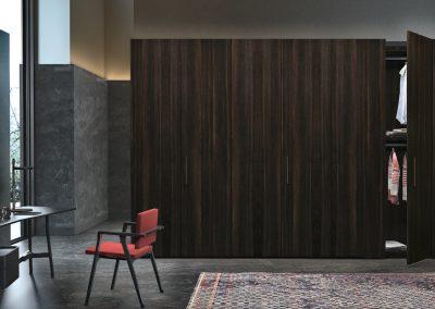 BLR Interiorismo Madrid (J01-Armario puerta mod Plana-M02-M03 Roble Therm)