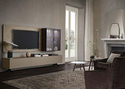 BLR Interiorismo Madrid (J01-Composicion modelo Open lacado Corda mate vitrina Roble Term)
