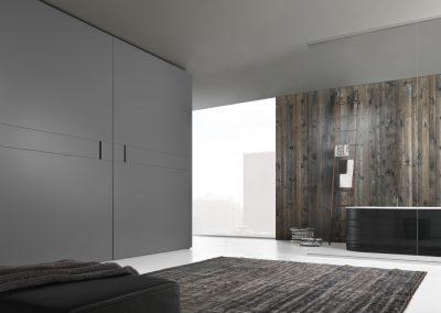 BLR Interiorismo Madrid (J01-Armario puerta coplanar Play ferro mate)