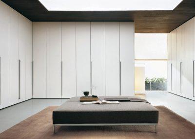 BLR Interiorismo Madrid (J01-Armario puerta mod Plana-M02-M03 Lacadas)