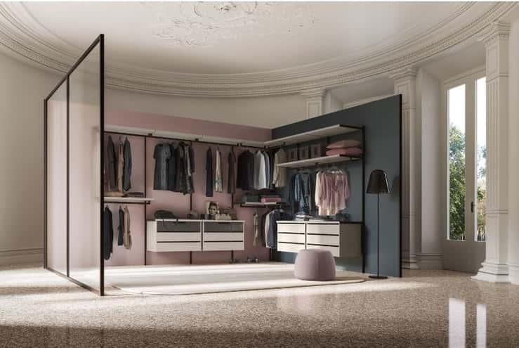 Vestidores de diseño italiano, pura elegancia en tu dormitorio
